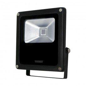 refletor tr led 10 10w preto luz verde