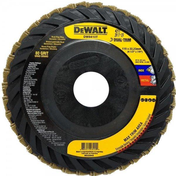 disco de lixa flap dual trim 4 1 grao 80 dw8410t dewalt incorzul