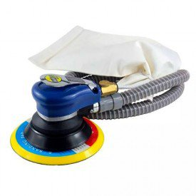 lixadeira orbital pneumatica 6 pol com aspiracao e disco velcrado mxt 0312a sigma tools incorzulll