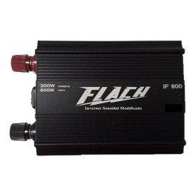 Inversor de Tenso 12V 220V 600W Pico 300W IF600 1   Flach   Incorzul