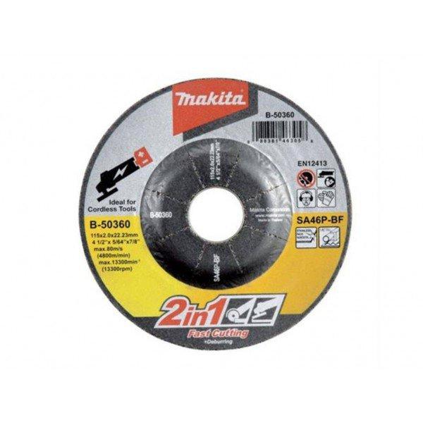 Disco 2 em 1 corte e desbaste 115mm   Makita   Incorzul