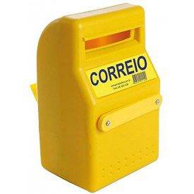 Caixa de Correio Amarela PVC 19X15X25CM   Kala   Incorzul