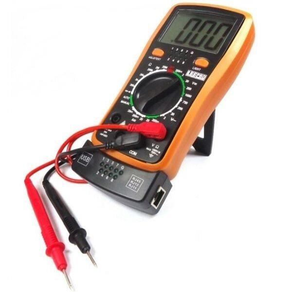 multimetro digital com teste de rede telefonia e usb profissional hy4300 lee toools incorzul