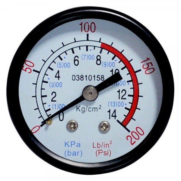 Manmetro Horizontal de 200 LBS 50MM   Lubefer   Incorzul