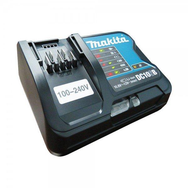 carregador de bateria de litio 12v dc10sb makita incorzul