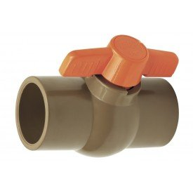 Registro De Esfera 60Mm Soldavel Marrom   Herc   Incorzull