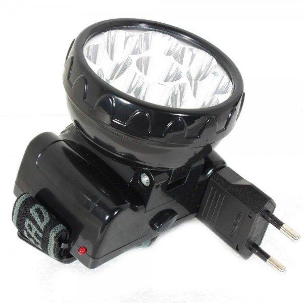 lanterna recarregavel para cabeca 9 leds noll incorzul