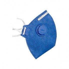respirador descartavel pff 2 com valvula pro tech incorzul
