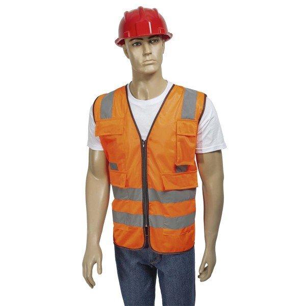 Colete Refletivo Laranja   Worker   Incorzull