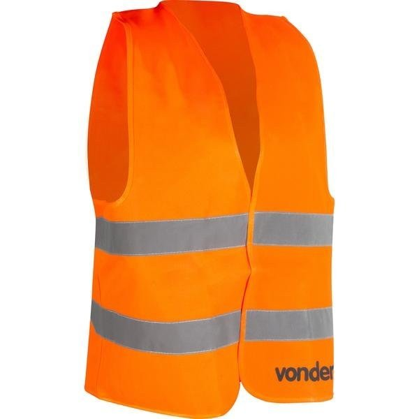 colete refletivo tipo blusao sem bolso laranja cv 101 vonder incorzul