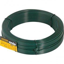 Arame galvanizado revestido com PVC verde BWG 18   Vonder   Incorzul