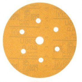 golden free of powder hookit disc of 236u 6 inches grain p80 01083