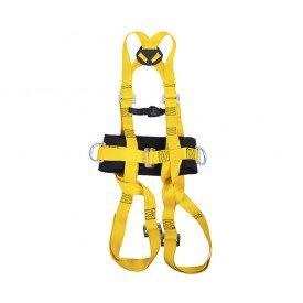 cinturao paraquedista com abdominal 5 fivelas
